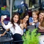 Selfie Five happy women — Stock Photo #54885417