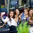 Selfie Five happy women — Stock Photo #54885423