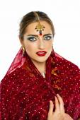 Young pretty woman in indian dress — Foto de Stock