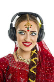 Young pretty woman in indian dress — Stock Photo