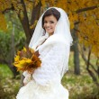 Portrait of a beautiful smiling bride — Stock Photo #55760557