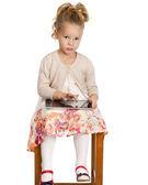 Portrét dívky, hezké liitle — Stock fotografie