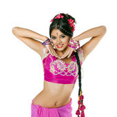 Young pretty woman in indian dress — Stockfoto