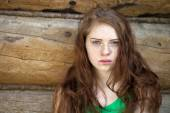 Portrait of the beautiful red haired girl  — Stock Photo