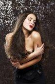 Retrato da beleza da jovem mulher atraente — Fotografia Stock