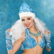 Young beautiful woman dressed as Russian Snow Maiden — Stock Photo #58800235
