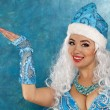Young beautiful woman dressed as Russian Snow Maiden — Stock Photo #58800249