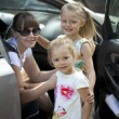 A family of four is going to go by car — Stock Photo #60537949