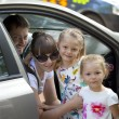 A family of four is going to go by car — Stock Photo #60537985
