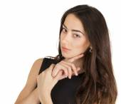 Young casual woman portrait isolated on white background — Stock Photo