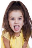 Crazy little girl — Stock Photo