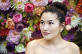 Asian beauty face portrait with clean and fresh elegant lady — Stock Photo