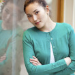 Asian beauty face portrait with clean and fresh elegant lady — Stock Photo #68488485