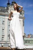 Celovečerní portrét ženy krásný model s dlouhýma nohama wea — Stock fotografie