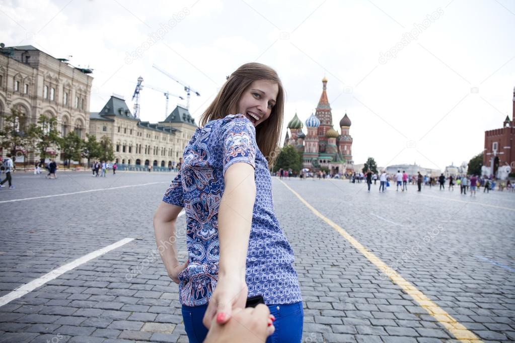 девушки на красной площади