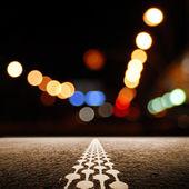 Desert road at night — Stock Photo