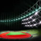 Soccer stadium with bright lights — Stock Photo