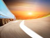 The highway traffic in sunset — Stock Photo