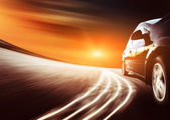 High-speed car  ,Motion Blur — Stock Photo