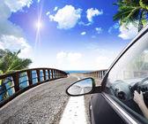 路沿热带海 — 图库照片