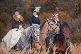 At binme adetim bayanlar avına — Stok fotoğraf