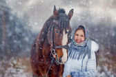 Winter portrait — Stockfoto