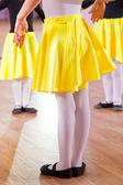 Ballet dancers, legs — Stock Photo