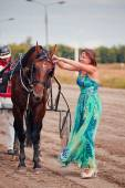 Racing for the horses trotting breeds — Stock Photo
