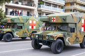 Ohi Day parade of military technology in Thessaloniki — Stock Photo