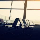 Airport hall interior — Stock Photo
