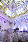 Gorgeous banquet hall — Stock Photo
