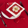 Table setting of Valentine's Day — Stock Photo #62102175