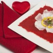 Table setting of Valentine's Day — Stock Photo #62102185