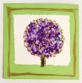 Greeting handmade card with tree — 图库照片