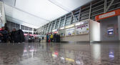 People in hall of Tbilisi International Airport — Stock Photo