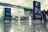 Hall of Tbilisi International Airport — Stock Photo