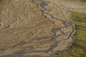 Riverbed top view — Stock Photo