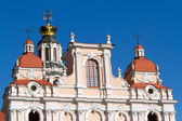 The upper part of the Church of St Casimir in Vilnius — Stock Photo