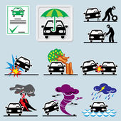 Car insurance icons — Stock Vector