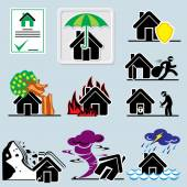 Home insurance icons — Stock Vector