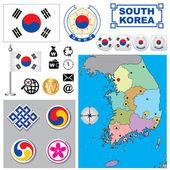South Korea map — Stock Vector