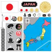 Japan map — Stock Vector