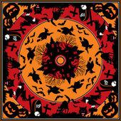 Halloween square ornament — Stock Vector