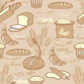 Bread seamless pattern — Stock Vector
