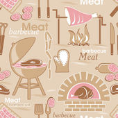 Meat seamless background — Stock Vector
