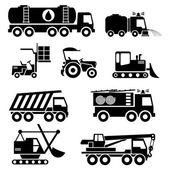 Special vehicles icons — ストックベクタ