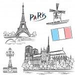 Paris landmarks — Stock Vector #73913453