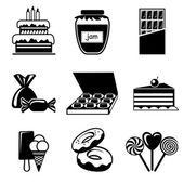 Confection icons — Stock Vector