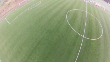 Soccer stadium, aerial view — Stock Video
