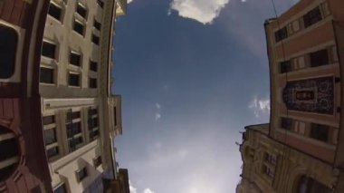High-angle motion jib view of old city center of Moscow, Russia — Stock Video